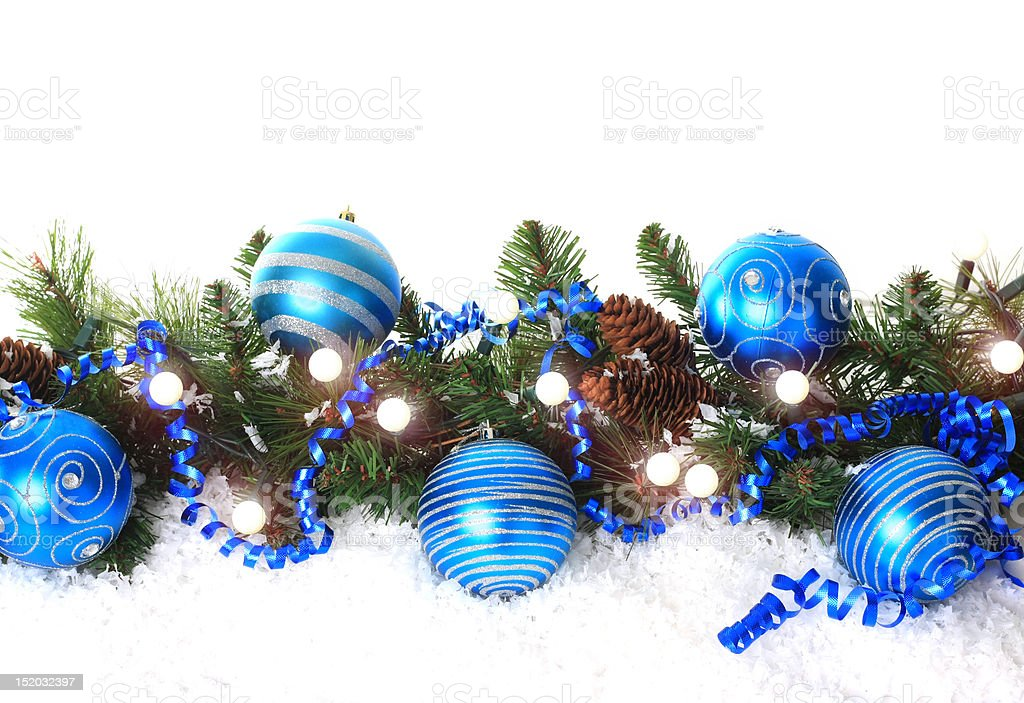 Blue Christmas Border Royalty Free Stock Photo