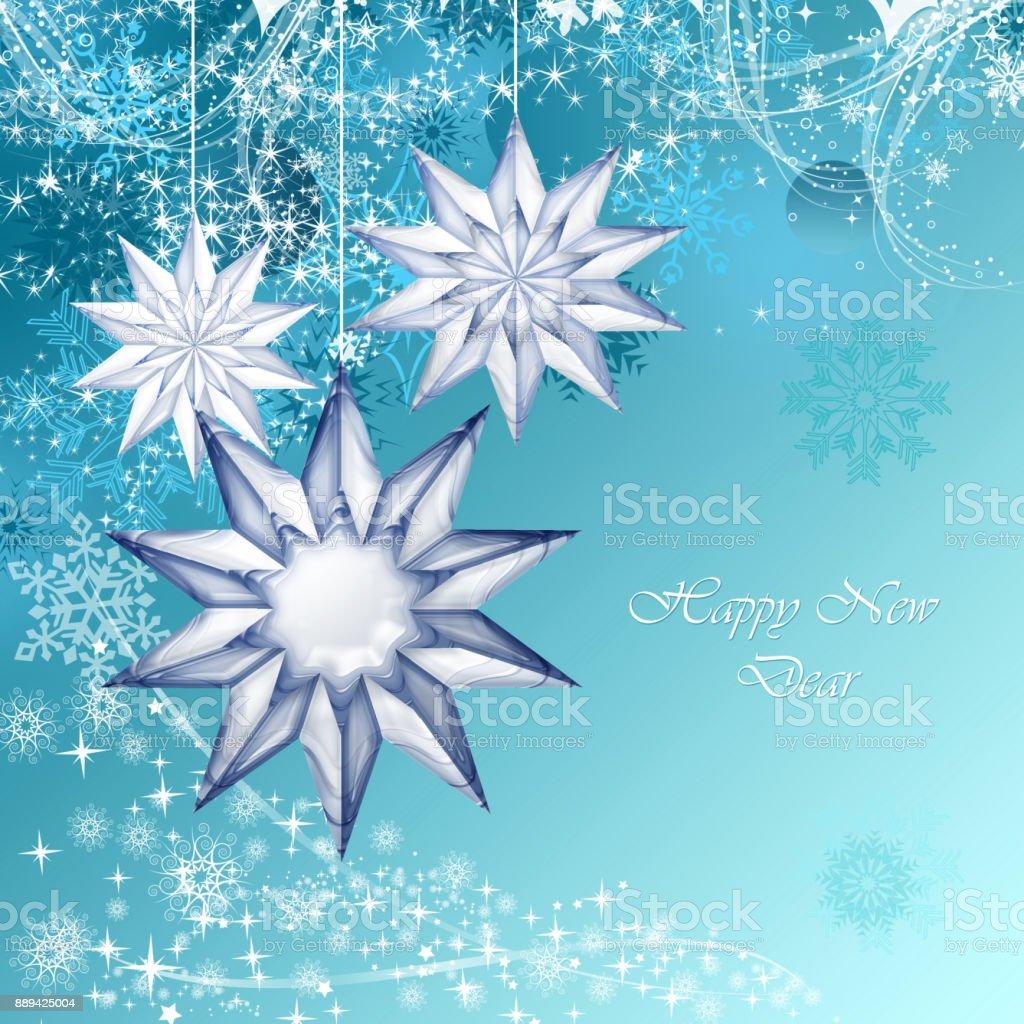 Blue christmas decorative stock photo
