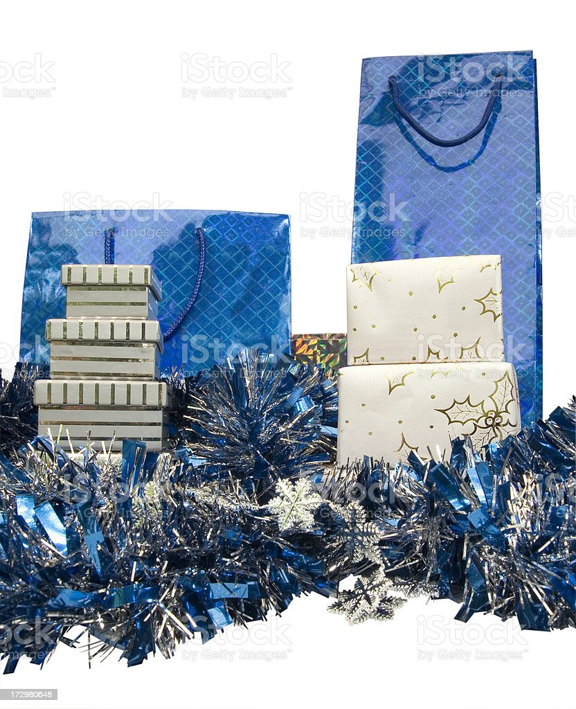 Blue Christmas royalty-free stock photo