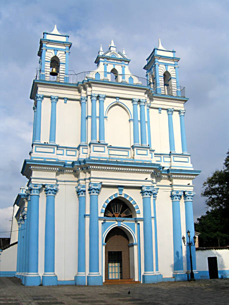 Blue church Blue church in Mexico orizaba stock pictures, royalty-free photos & images