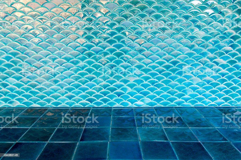 Photo libre de droit de Cercle Bleu Vague Carrelage Mur Et ...
