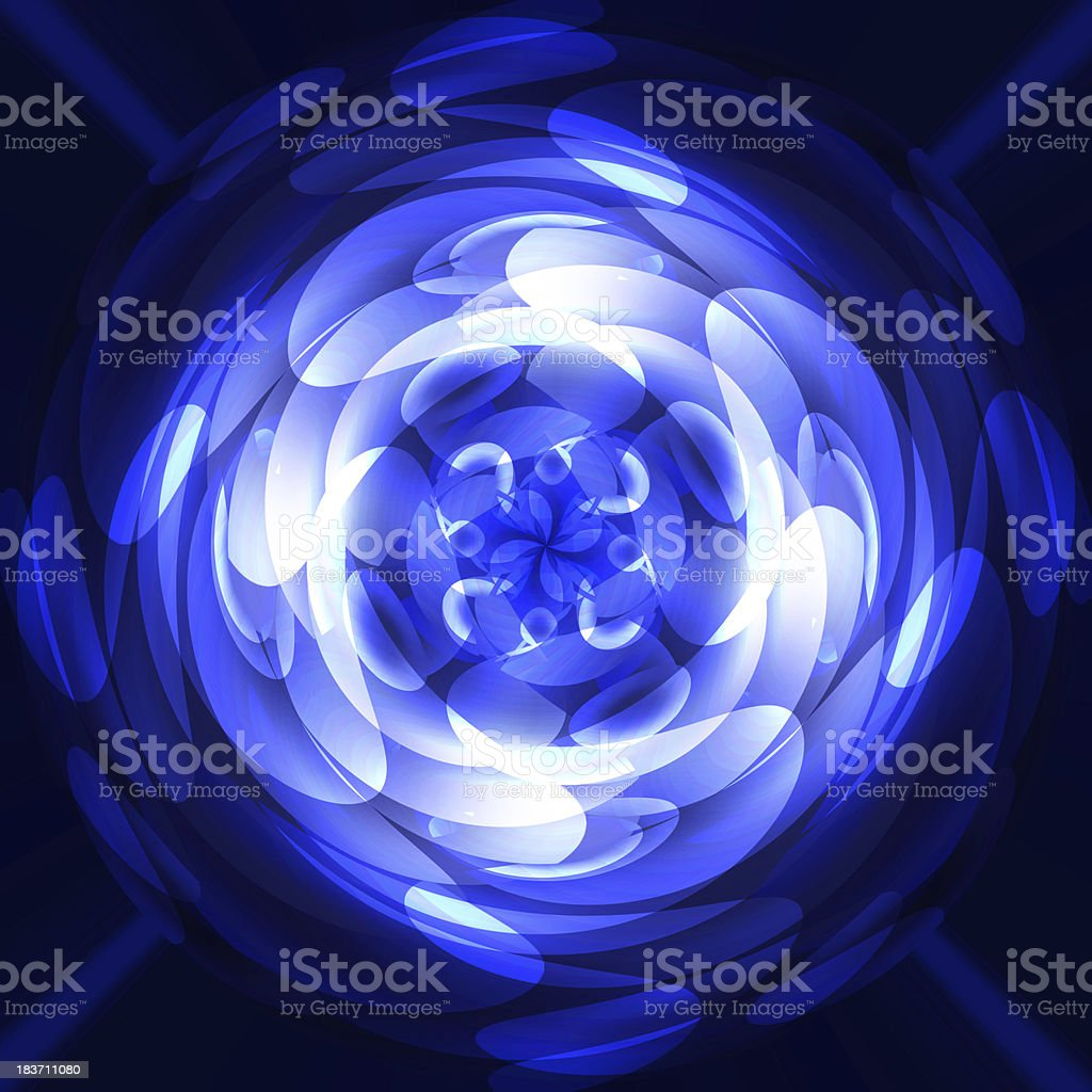 blue circles on a dark background royalty-free stock photo