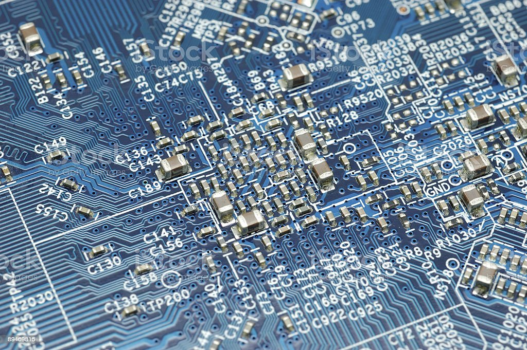 Blue circuit board royalty-free stock photo