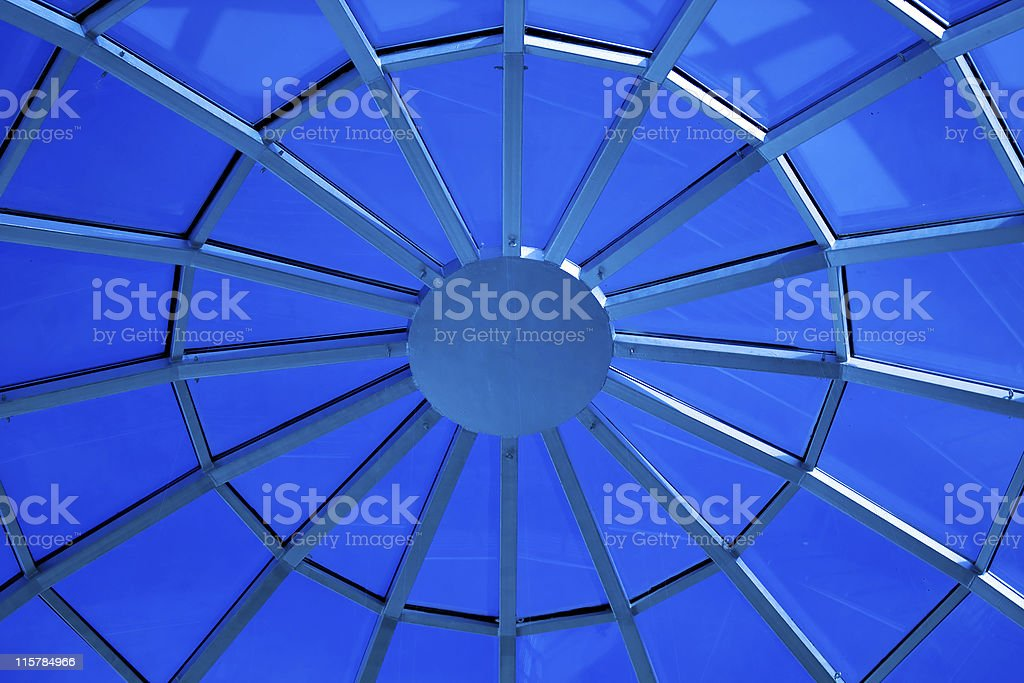 blue circular ceiling royalty-free stock photo