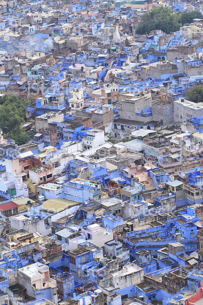 Blue city Jodhpur royalty-free stock photo