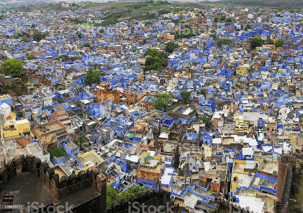 blue city of Jodpur, India stock photo