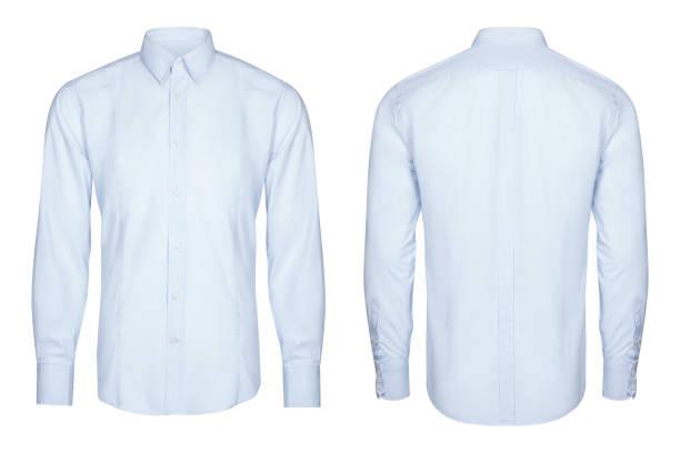 藍色經典和商務襯衫,襯衫,白色背景 - 衣領 個照片及圖片檔