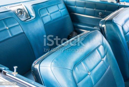 Blue Classic Vintage Car Interior