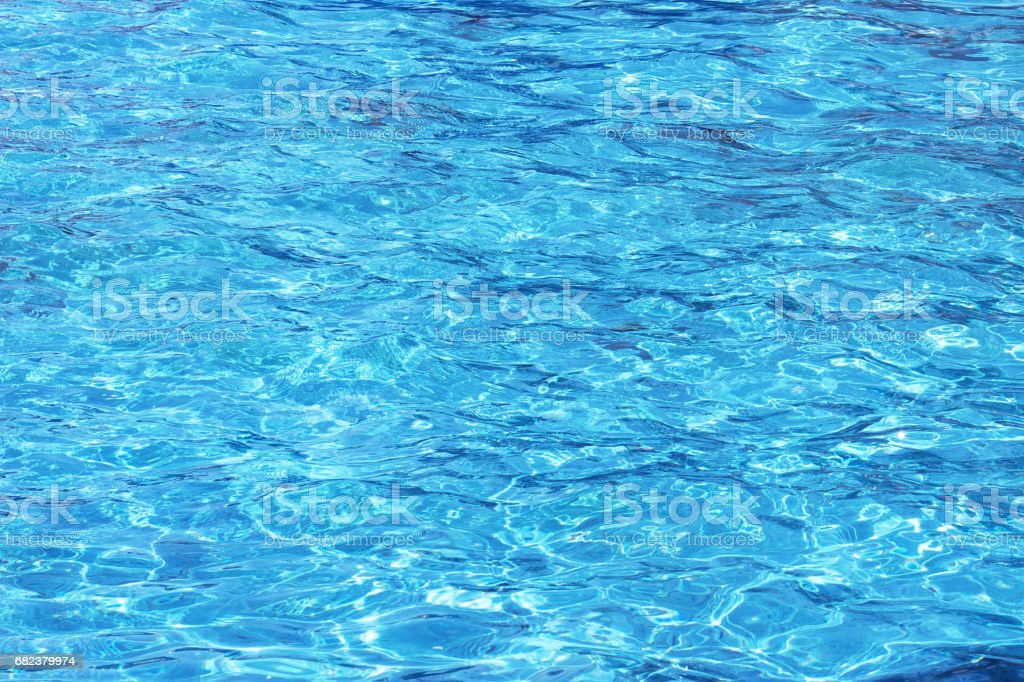 Blue clean water waves royalty-free stock photo