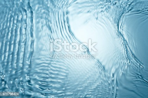 Background of blue clear water in motion with waves