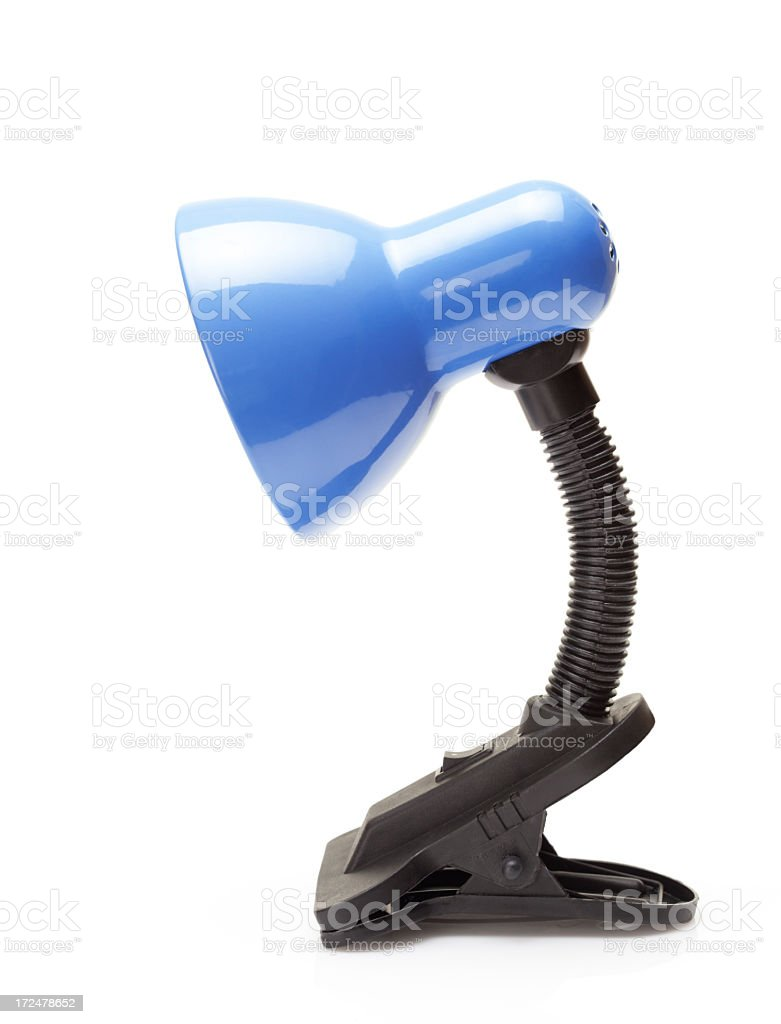 blue clip table lamp royalty-free stock photo