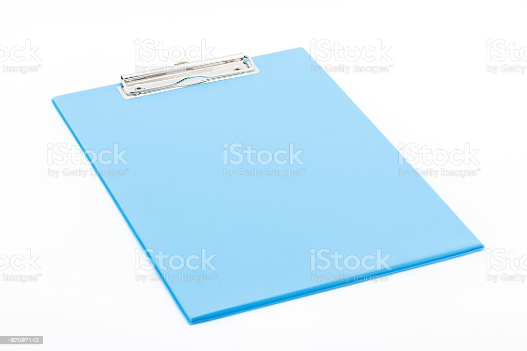 Blue clipboard. royalty-free stock photo
