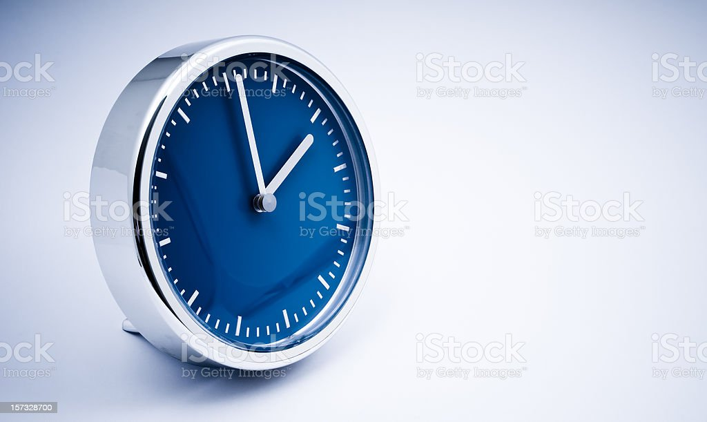 Blue Clock royalty-free stock photo