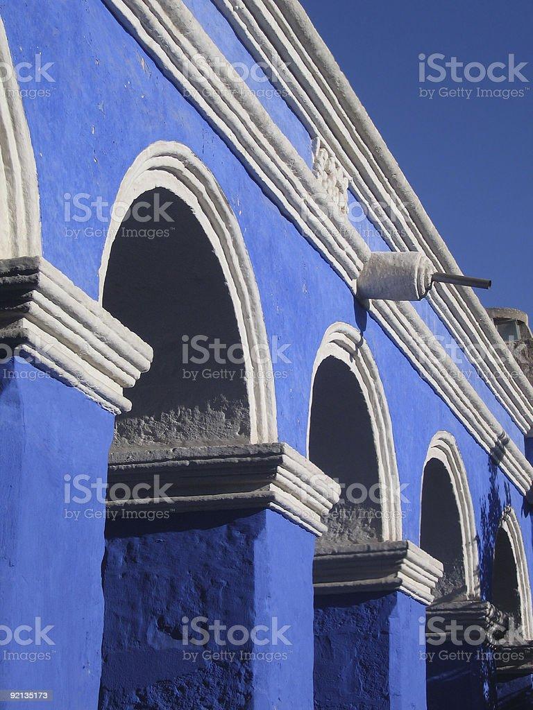 Blue Cloister royalty-free stock photo
