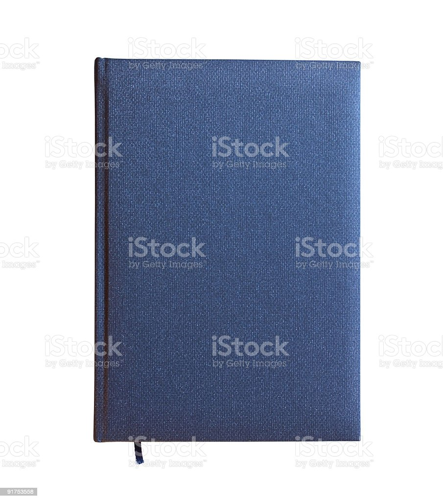 Blue closed book isolated royalty-free stock photo