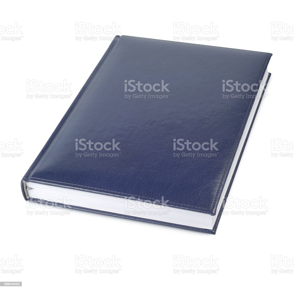 Blue Closed Book royalty-free stock photo