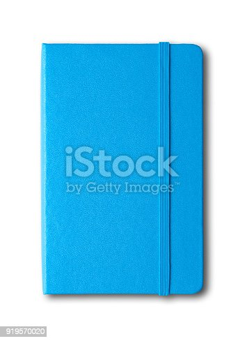 istock blue closed notebook isolated on white 919570020