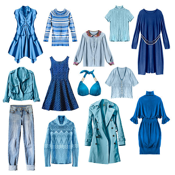 Blue clothes isolated stok fotoğrafı