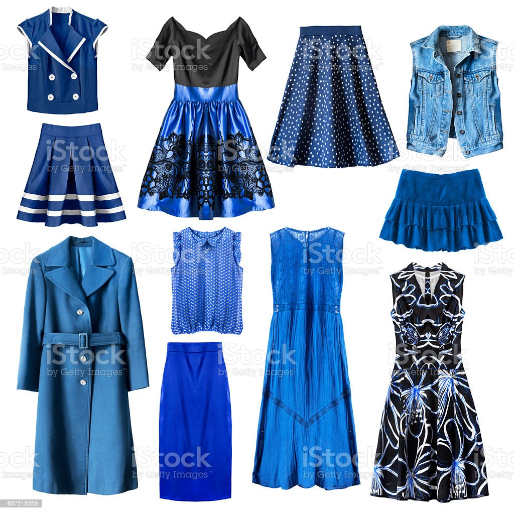 Blue clothes isolated stock photo