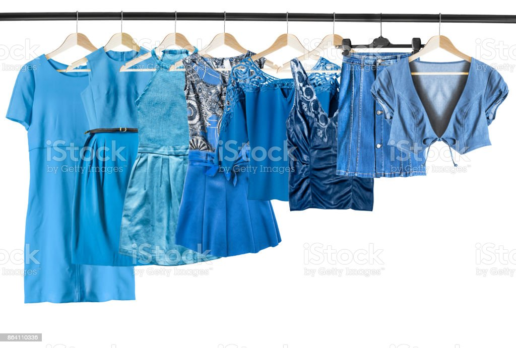 Blue clothes isolated royalty-free stock photo