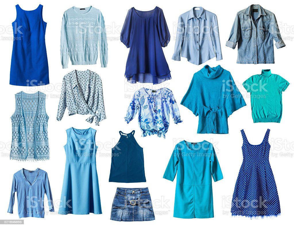 Blue clothes stock photo