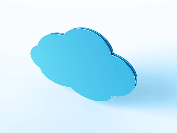 Blue Cloud Symbol 3D Render of a blue blank Cloud Symbol. Very high resolution available! Concept image for Cloud Computing Services. Use it for Your own composings!Related images: blue 3d business NOT map NOT background stock pictures, royalty-free photos & images