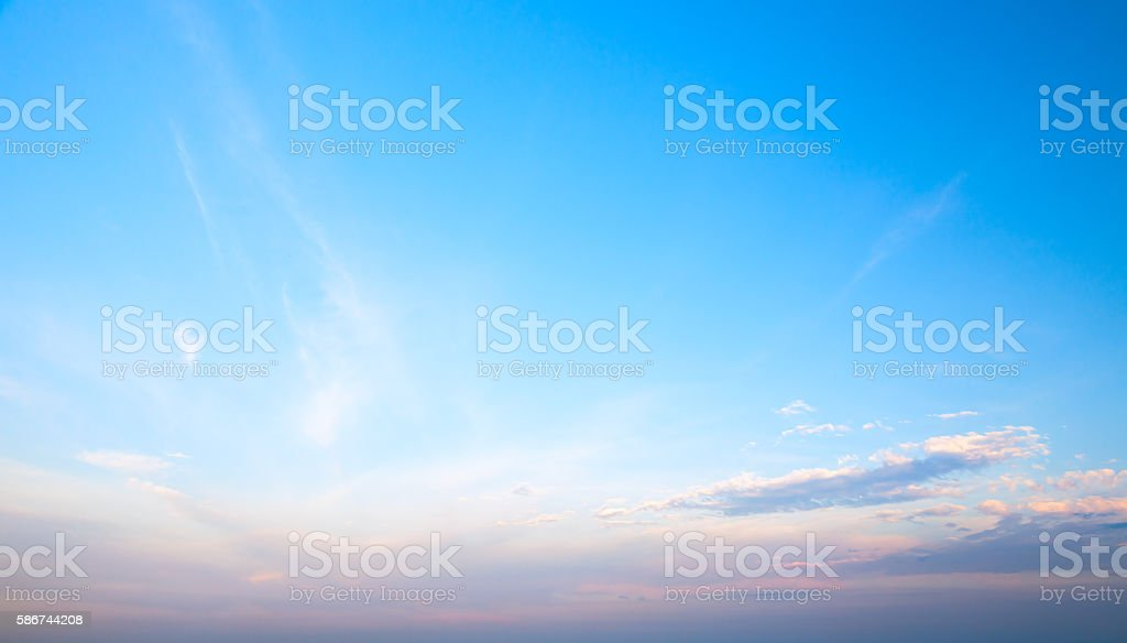 Blue cloudy sky at evening. Natural background – Foto