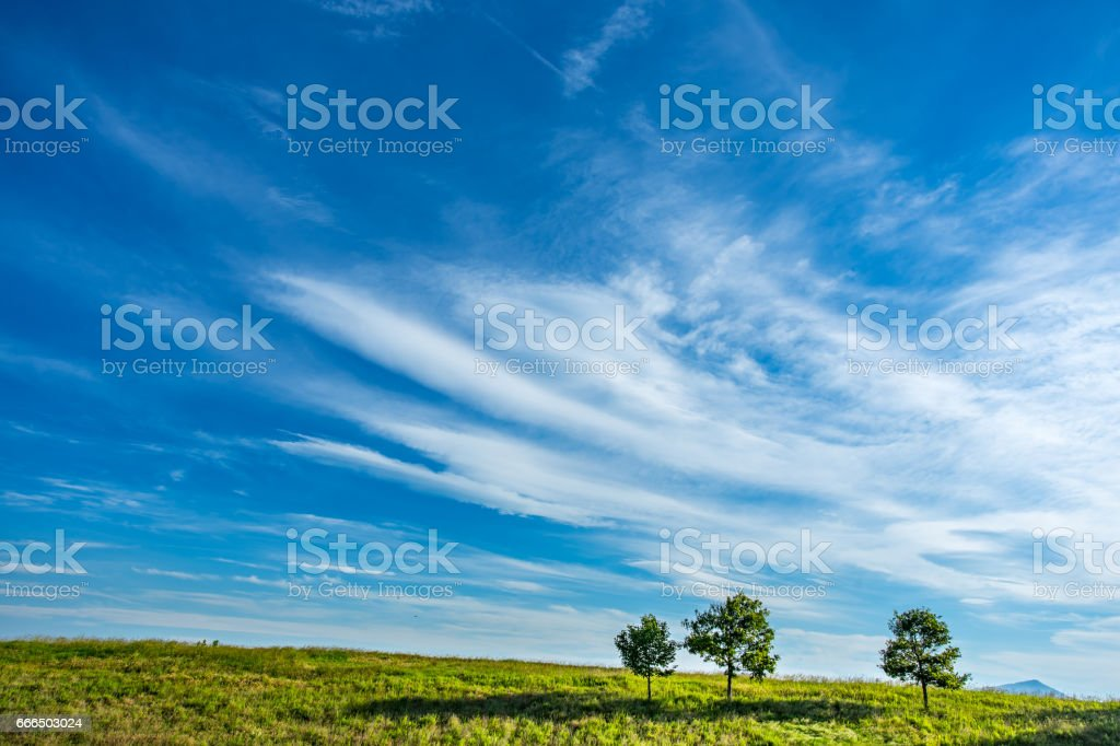 Blue Cloudy Sky stock photo