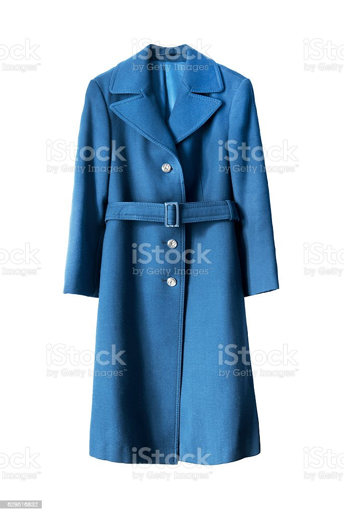 Blue coat isolated stock photo