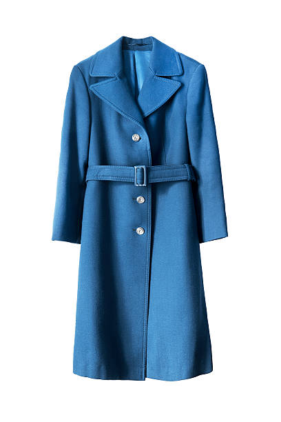Blue coat isolated - foto stock