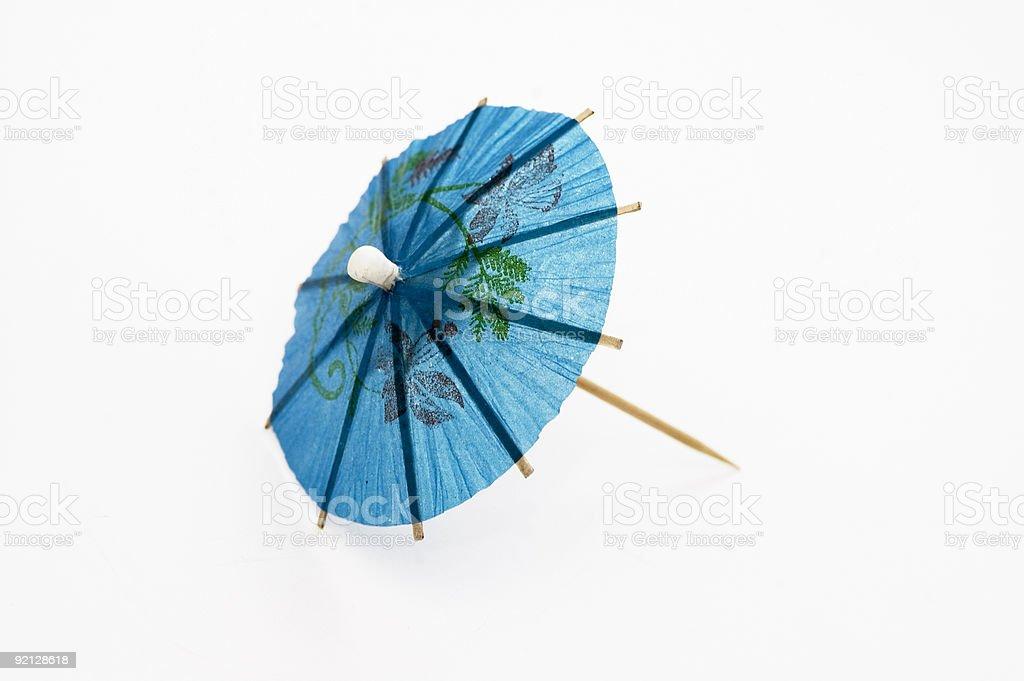 Blue Cocktail Umbrella stock photo