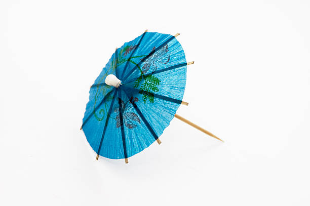 Blue Cocktail Umbrella