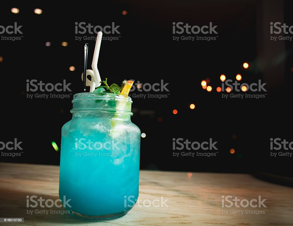 Blue cocktails. stock photo