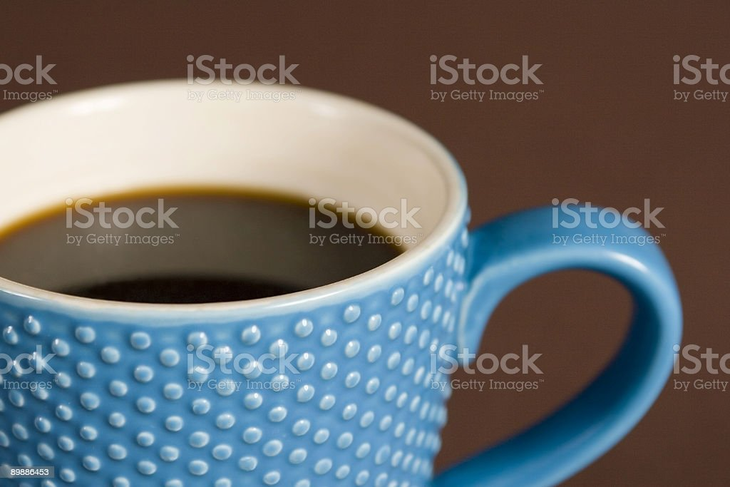 Blue Coffee Cup royalty-free stock photo