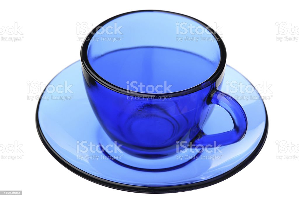 Blue coffee pair royalty-free stock photo