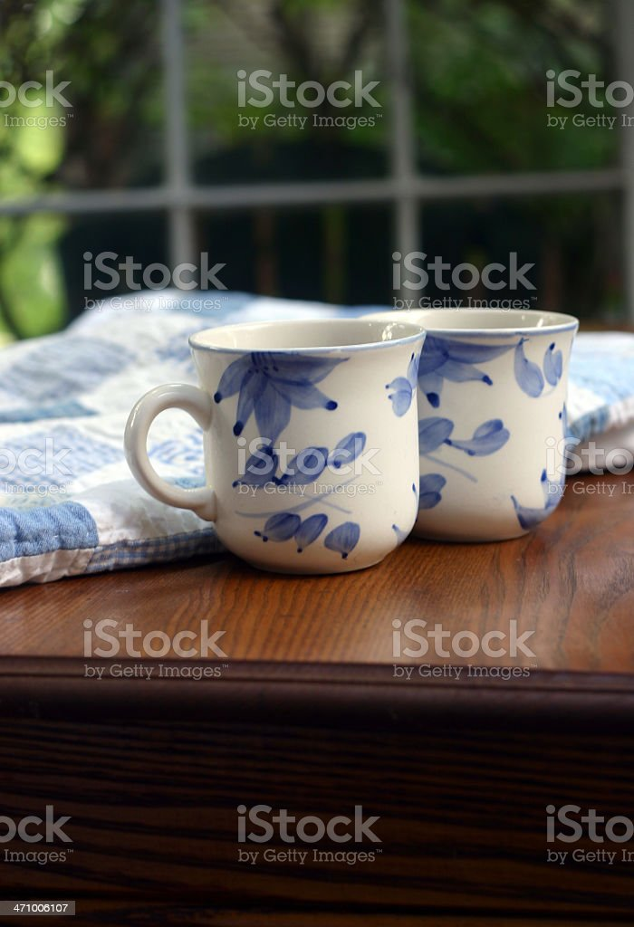 Blue Coffee Party stock photo