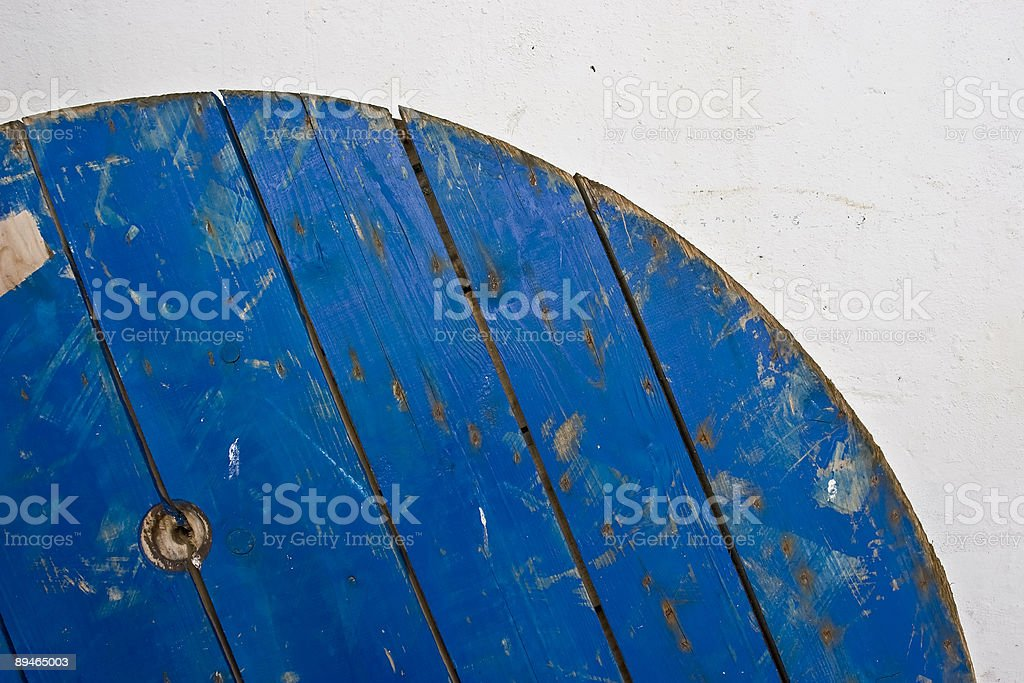 Blue coil royalty-free stock photo