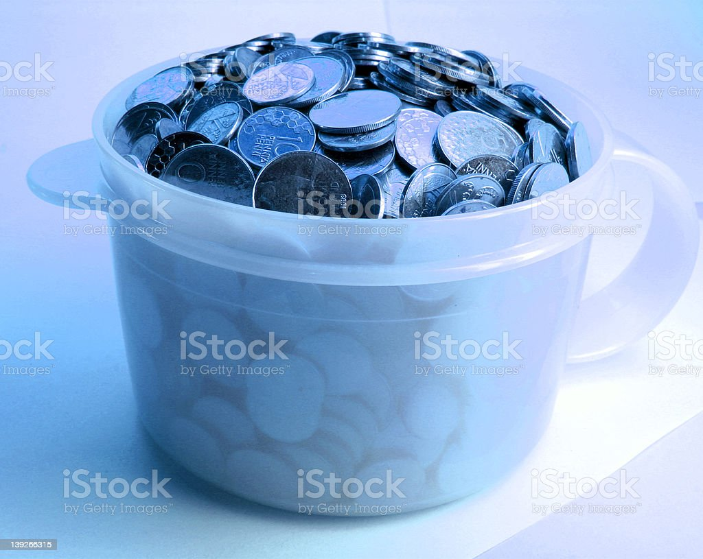 Blue coins royalty-free stock photo