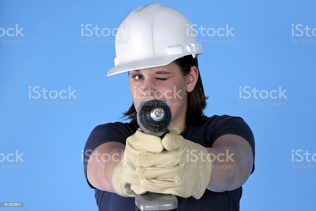 Blue Collar royalty-free stock photo