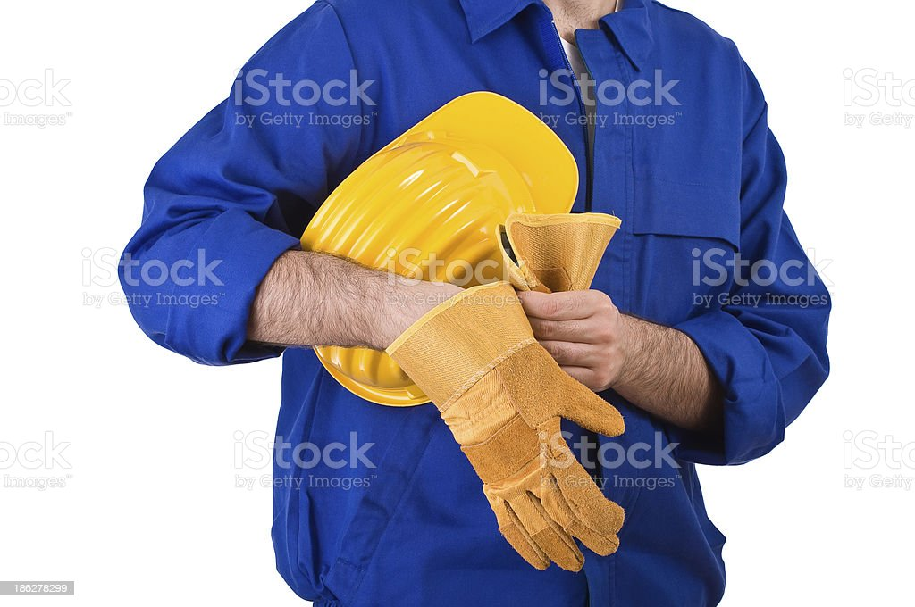 Blue collar worker. royalty-free stock photo