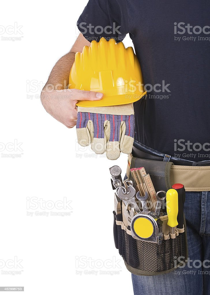 Blue collar worker. stock photo