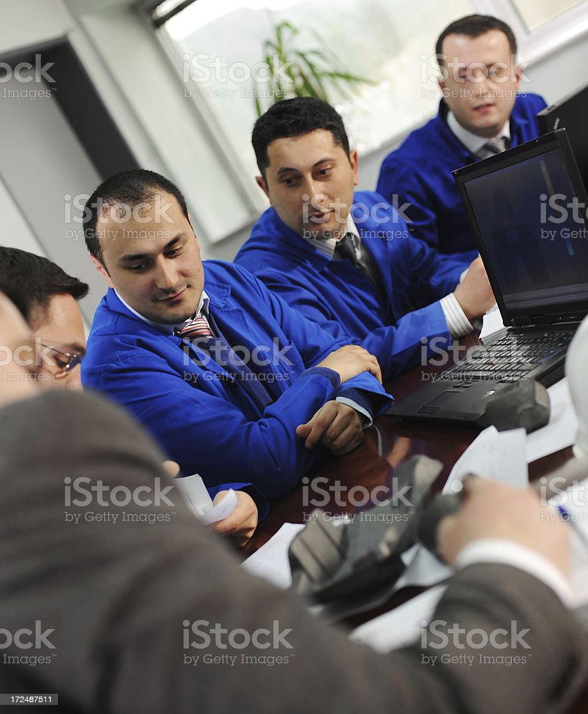 Blue collar workers royalty-free stock photo
