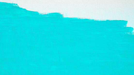 1084390994 istock photo Blue color abstract paint with a brush and textures of water color oil colour drawing lines on white canvas background 1208733647