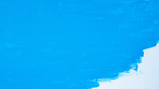 1084390994 istock photo Blue color abstract paint with a brush and textures of water color oil colour drawing lines on white canvas background 1250922203