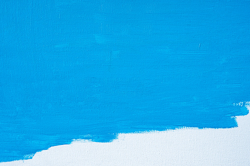 1084390994 istock photo Blue color abstract paint with a brush and textures of water color oil colour drawing lines on white canvas background 1250922206