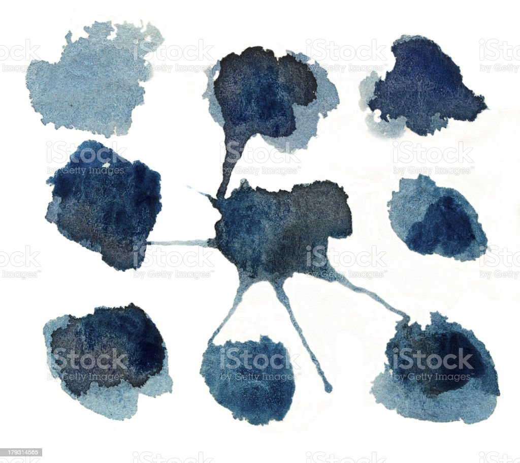 blue color blobs royalty-free stock photo