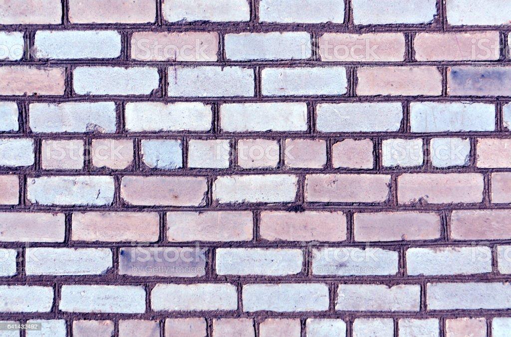 Blue color brick wall trexture stock photo