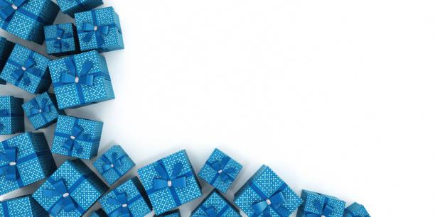 藍色禮品盒-剪裁路徑 - 剪貼畫 個照片及圖片檔