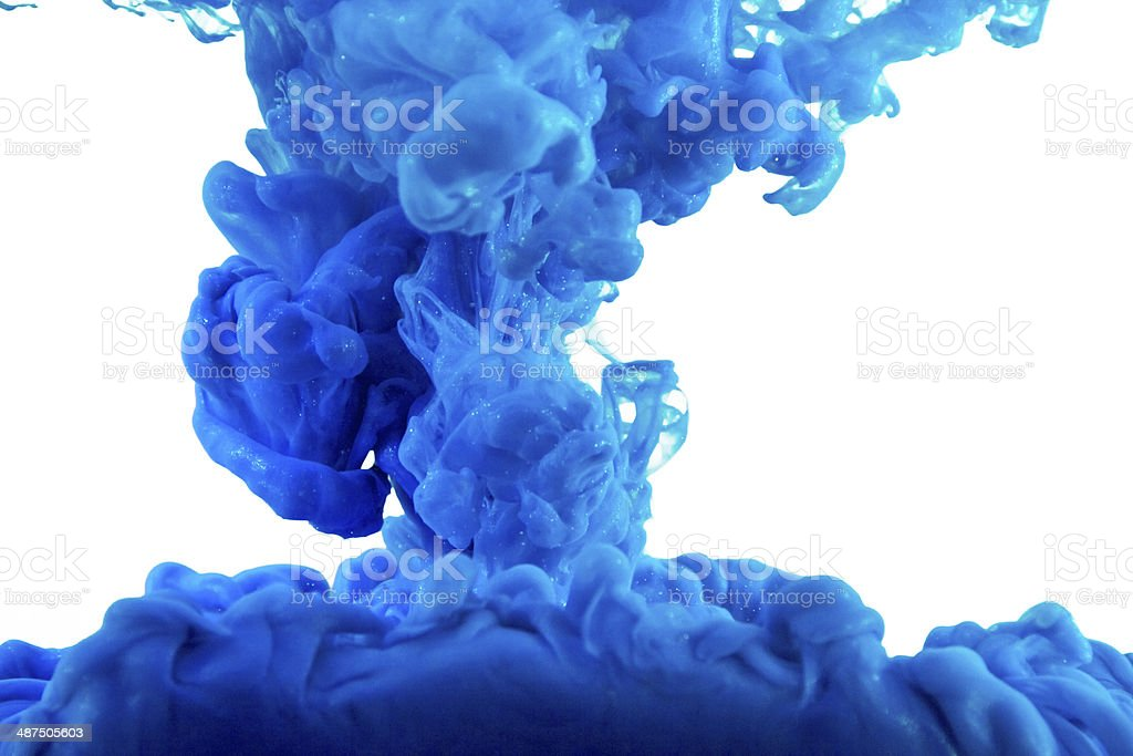 Blue color in water stock photo