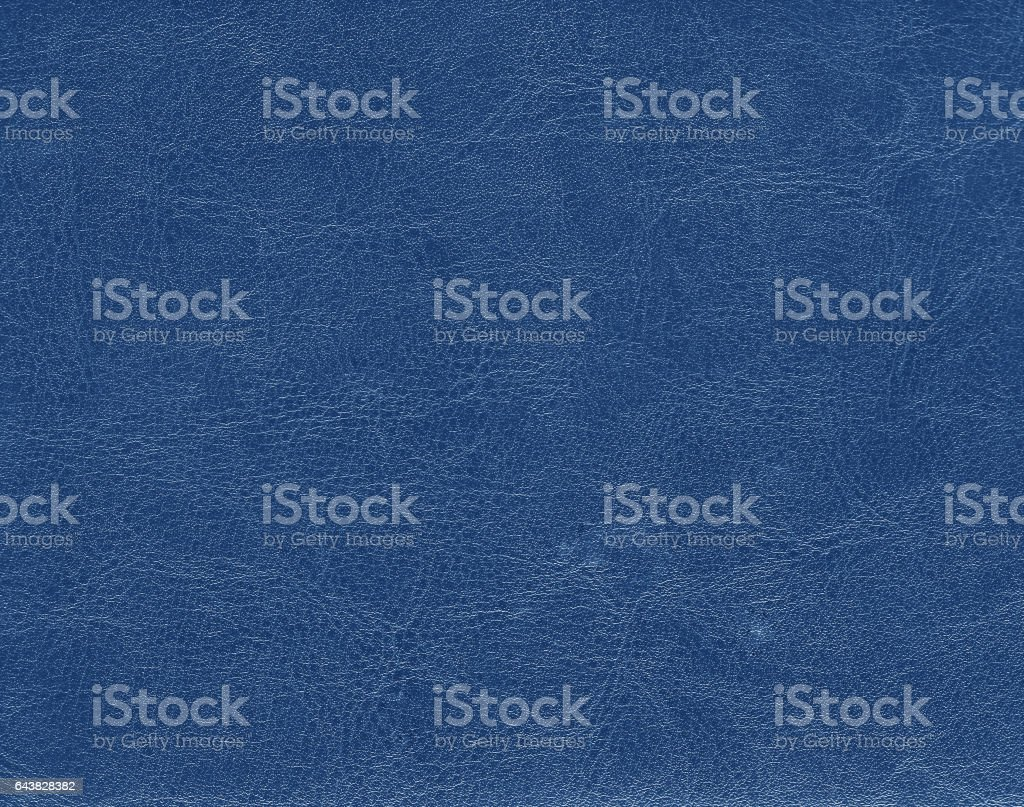Blue color leather texture stock photo